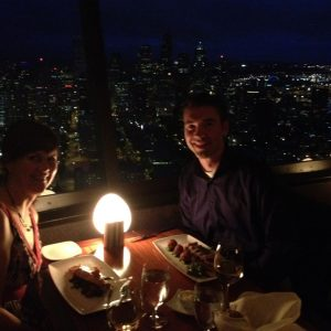 Dinner at the Space Needle, courtesy of Andrea.