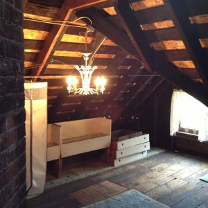 Installing a chandelier in the attic