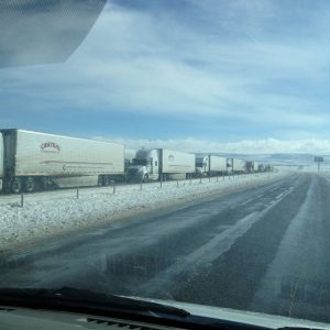 Day 4. I-80 eastbound opened at Laramie, but the westbound lanes had shut down