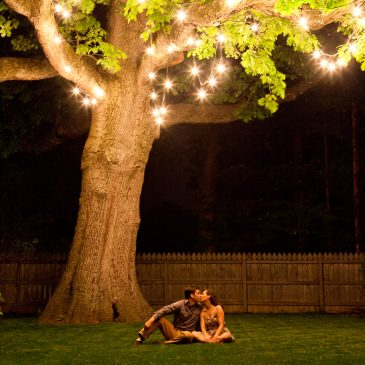 Backyard Oak engagement photos