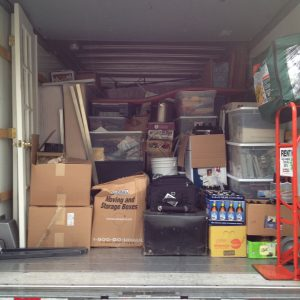 Moving my stuff. We'll move Jenny in a few weeks. (And completely fill a bigger truck, plus haul a car.