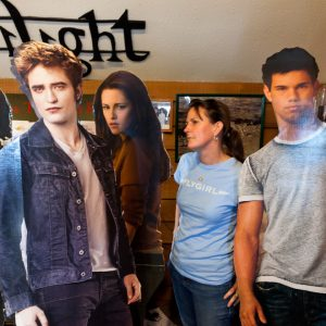 Jenny was in Twilight... in Forks. Actually, neither of us have seen the movie so we're not sure if she got the disaffected look just right.