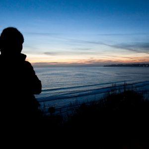 Looking back at Stinson Beach